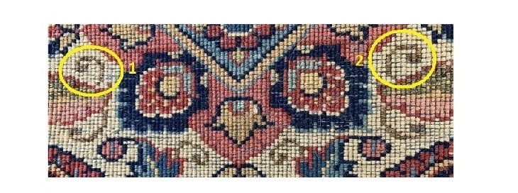 Perzische tapijten herkennen.